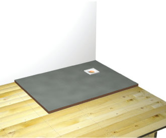 Baseboard Formed Wetroom Shower Tray 1500X900-0