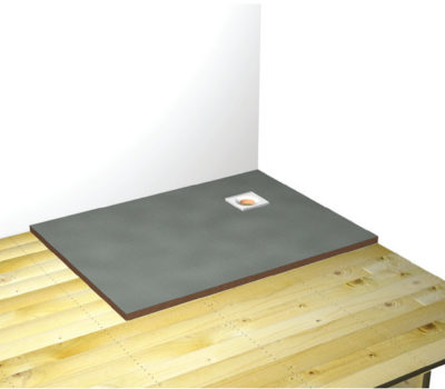 Baseboard Formed Wetroom Shower Tray 1500X900-0