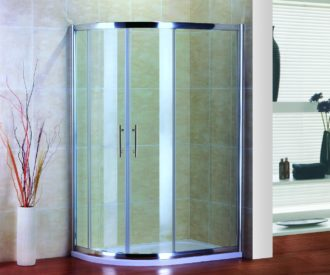 Air Offset Quadrant Shower Door -0