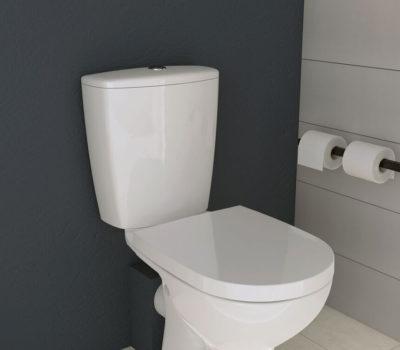 Aztec Toilet Pan, Cistern Inc. Fittings & Seat-3093