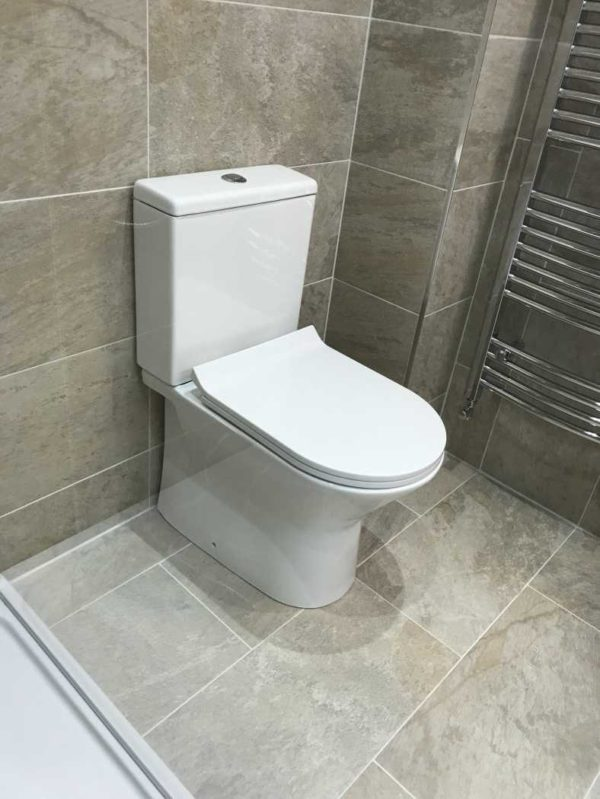 Fiona Toilet with Rimless Pan, Cistern Inc. Fittings & Seat-3099