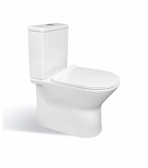 Fiona Toilet with Rimless Pan, Cistern Inc. Fittings & Seat-0