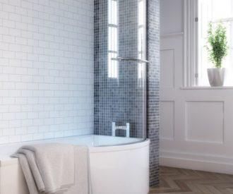 City 1700 P Shape Shower Bath Pack-3023