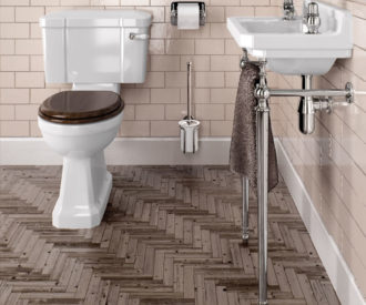 Kensington WC with Lever Flush & Seat-3101