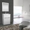 Paris 600 White Gloss Unit & Basin-0
