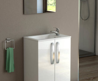 Polo 500 White Gloss Floor Unit & Basin-0