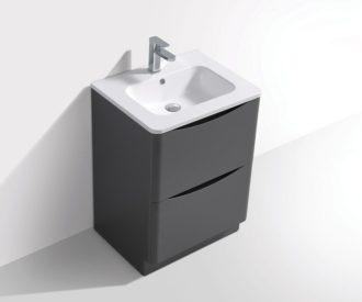Fia Luxury 2 Drawer Floor Unit Lead Grey-3123