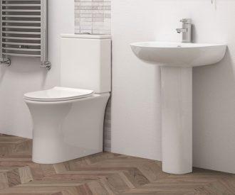 Dallas Toilet Pan, Cistern Inc. Fittings & Soft Close Seat-3096