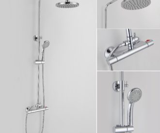 Series A Dual Thermostatic Shower Valve Kit-0