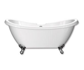 City 1750 Traditional Double Slipper Bath-0