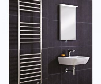 Athena Pre Filled Electric Radiator - Stainless Steel 600mm-0