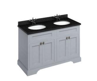 Freestanding 1300 Grey Unit & Double Vanity Bowl with Doors-3659