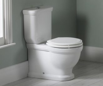 Laura Ashley Pavilion Close Coupled WC Pan, Cistern & Seat -0