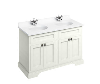 Freestanding 1300 Sand Unit & Double Vanity Bowl with Doors-0