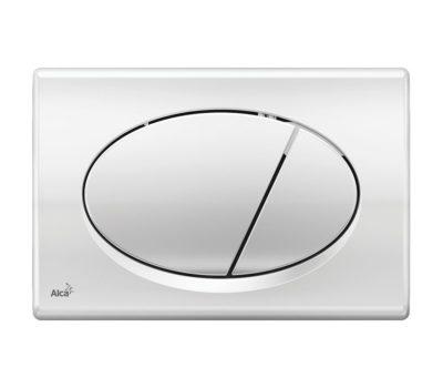 Alcaplast Oval Dual Flush Plate Chrome Polished-0