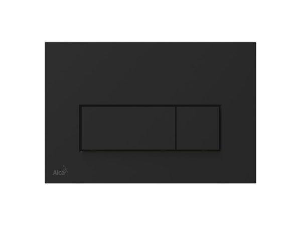 Alcaplast Slim Dual Flush Plate Matte Black-0