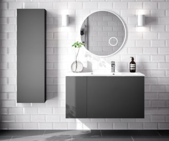 Alor 955 1 door, 1 drawer Wall unit Charcoal-0