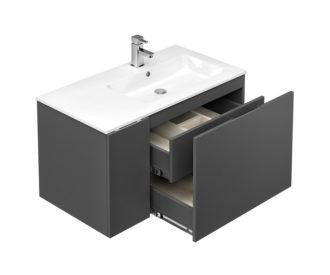 Alor 955 1 door, 1 drawer Wall unit Charcoal-4657