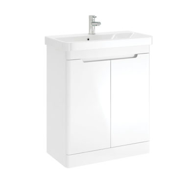 ARK 700MM 2 DOOR FLOOR UNIT WHITE GLOSS-4235