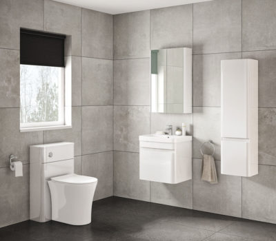 Casi 500 White gloss wall unit in basin-0
