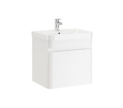 Casi 500 White gloss wall unit in basin-4637