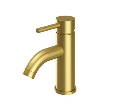 Oir Brushed Brass Basin mono c/w spring waste-0