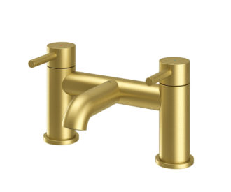 Oir Brushed Brass Bath Filler -0