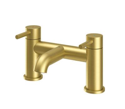 Oir Brushed Brass Bath Filler -0
