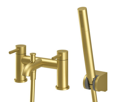Oir Brushed Brass Bath Shower Mixer-0