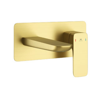 Pure Brushed Brass Wall Mounted Basin Mono-0