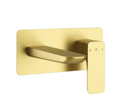 Pure Brushed Brass Wall Mounted Basin Mono-0