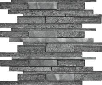 STRATO BLACK STRIP MOSAIC 30X30 (SHEET)-0
