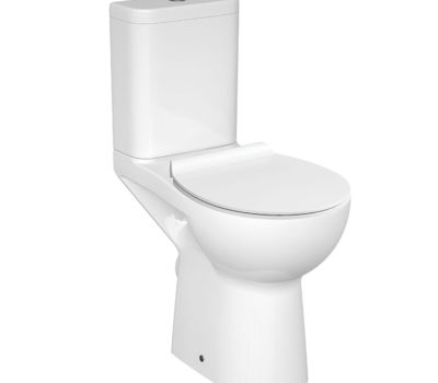 ETI CLEAN OPEN BACK TOILET PAN, CISTERN & SOFT CLOSE SEAT-0