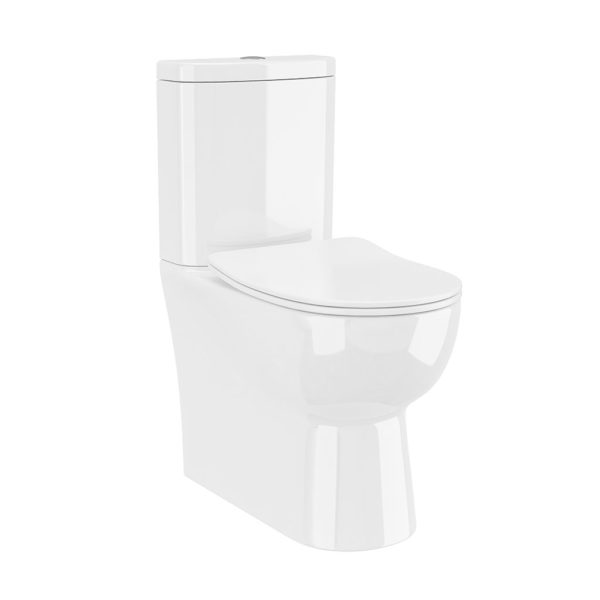 FINLEY FULLY BTW TOILET PAN, CISTERN & SOFT CLOSE SEAT -0
