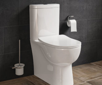 FINLEY FULLY BTW TOILET PAN, CISTERN & SOFT CLOSE SEAT -4664