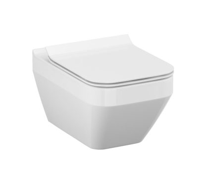 CREA CLEAN ON RECTANGULAR WALL HUNG TOILET PAN & SOFT CLOSE SEAT-4679